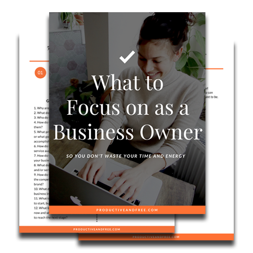 Business Focus Workbook | ProductiveandFree.com