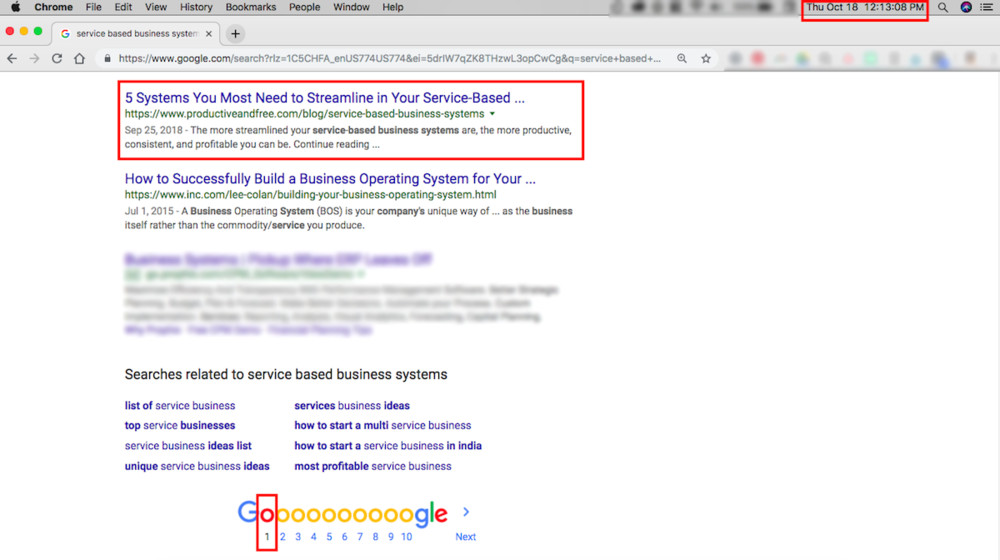 Blog Case Study: First Page of Google Search in 3 Weeks   ProductiveandFree.com