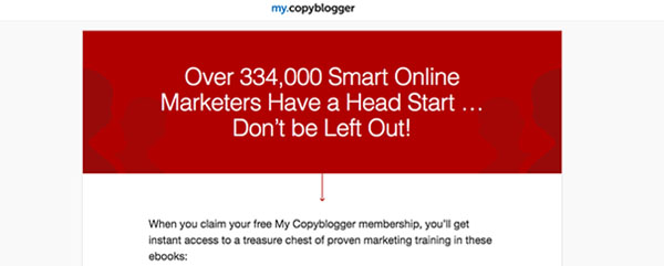 Copyblogger | Lead Magnet Example