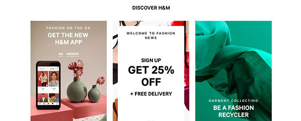 H&M | Lead Magnet Example