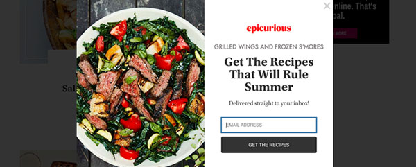 Epicurious | Lead Magnet Example