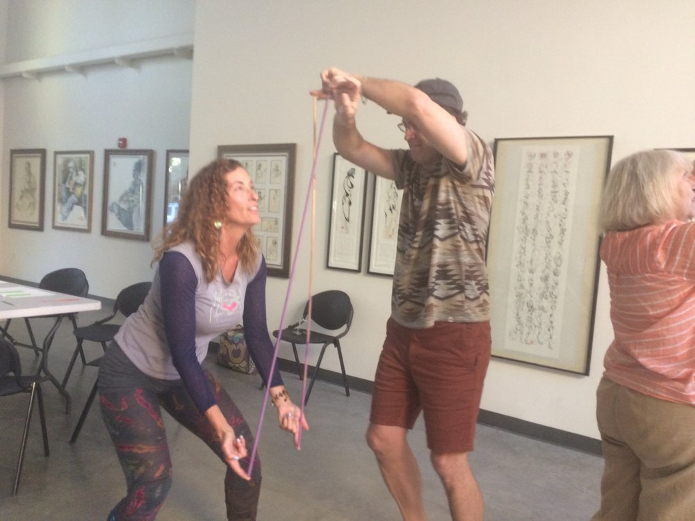 Yoga Therapy Partner and Circus Yoga with Lynne Okun