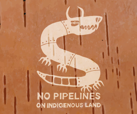 Speak Up Against Pipelines On Indigenous Land - Contribute by sharing the work of Métis artist and scholar Dylan Miner. Anyone may use the open access file for:Printing posters or stickers.Screenprinting posters, banners, or shirts.Holding screenprinting workshops.Holding fabric painting workshops.