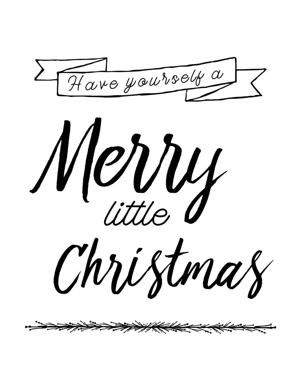 Have Yourself A Merry Little Christmas Printable Card Design GOOD LIFE PRINTABLE