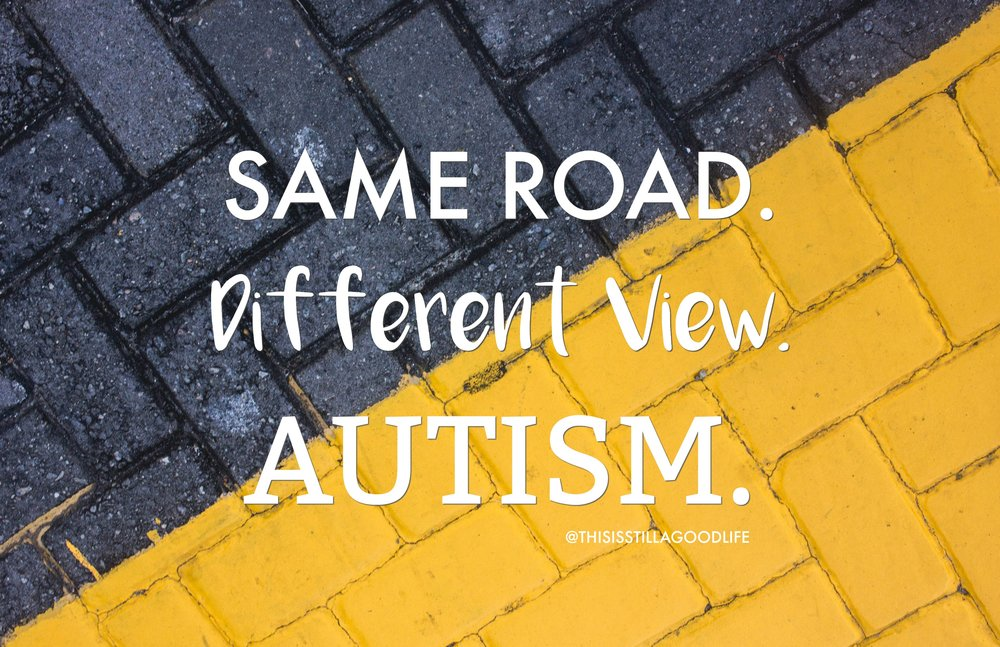 Same Road. Different View. - Autism Awareness Month Social Media Images