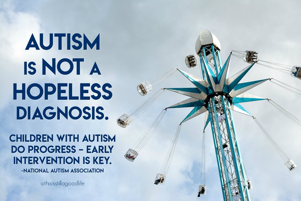 Autism is NOT a hopeless diagnosis - Autism Awareness Month Social Media Images