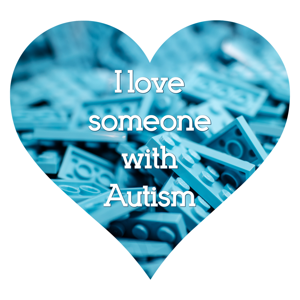 I love someone with Autism heart badge 2 - AUTISM Always Unique Totally Interesting Sometimes Mysterious - Autism Awareness Month Social Media Images