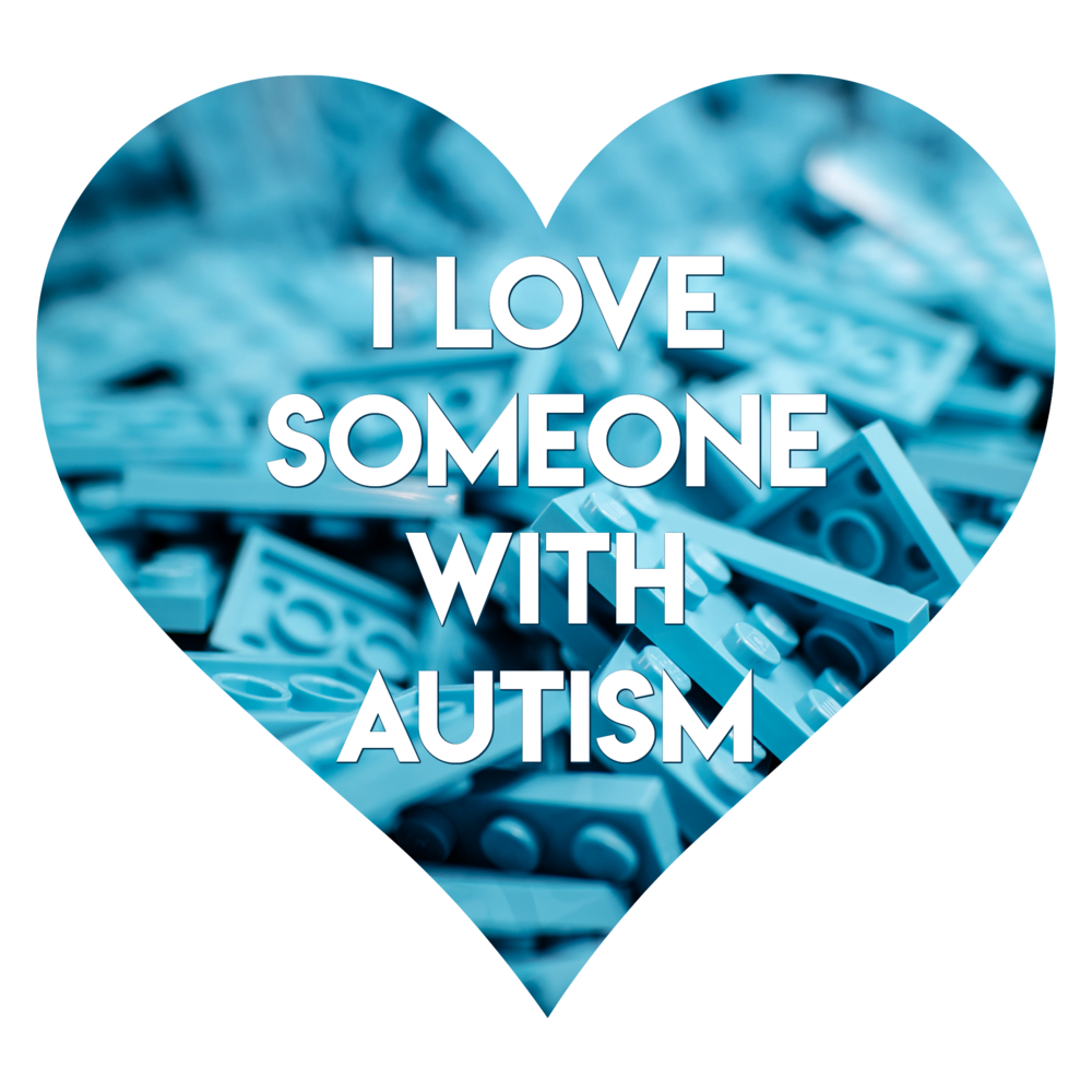 I love someone with Autism heart badge 3 - AUTISM Always Unique Totally Interesting Sometimes Mysterious - Autism Awareness Month Social Media Images
