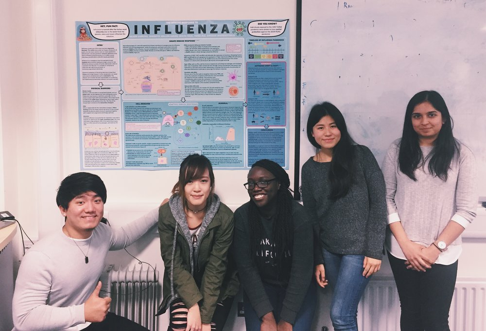 The group and our immunology poster (best coursework I've done!)