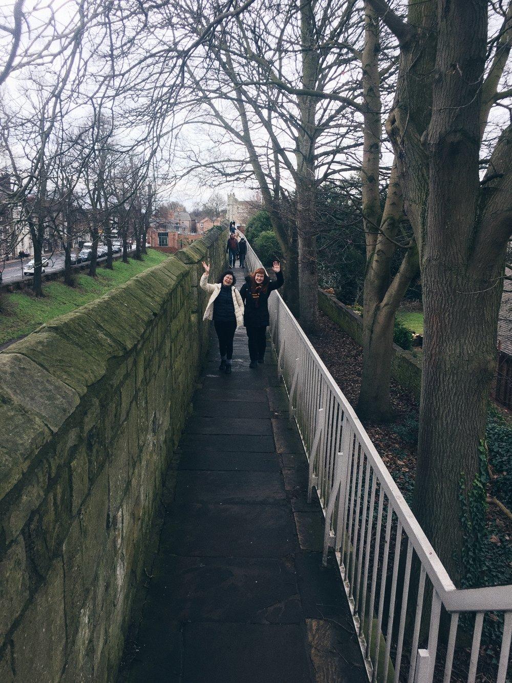 York city walls - aunt & cousin.jpg