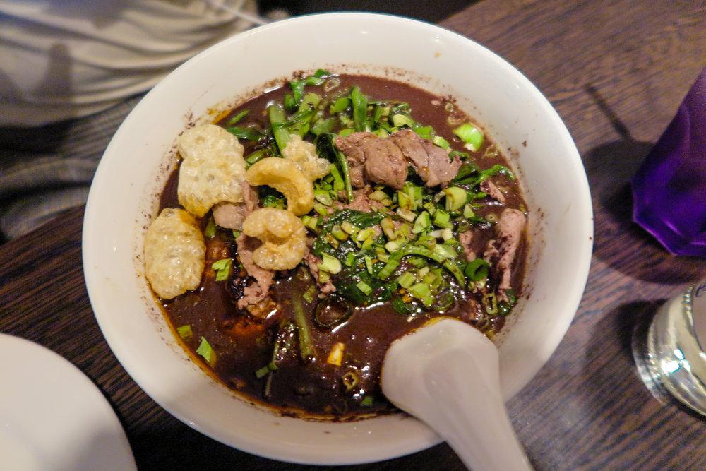 Nam tok noodle soup