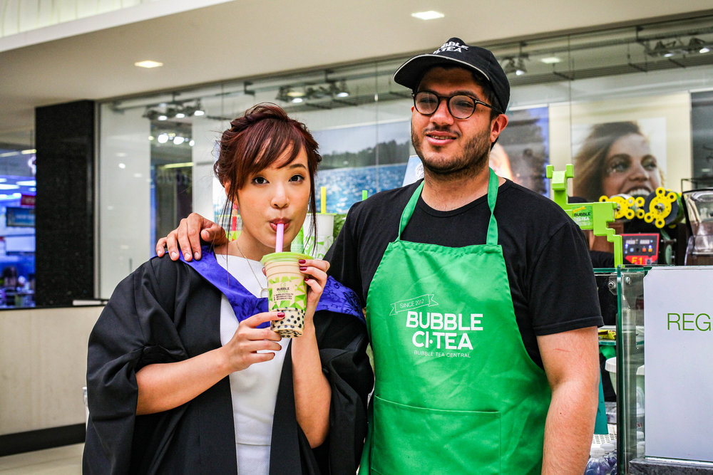 Did I really graduate if I didn't celebrate with bubble tea? :p Here's my favourite person in town because he makes my favourite drink in the world. Thanks for always being cheerful and nice to me every time I need my bubble tea fix :'D