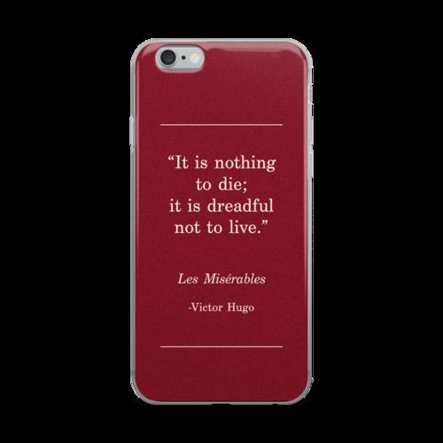 les miserables iphone 6 case