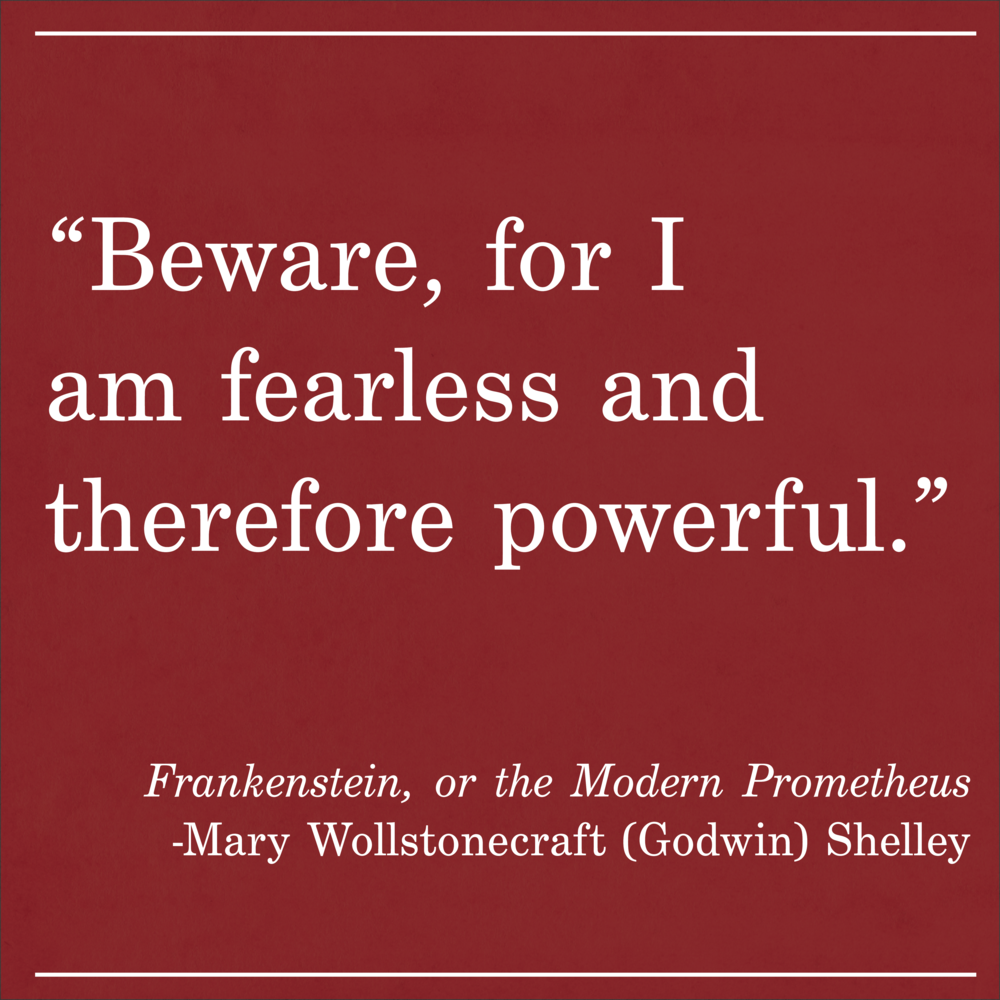 Daily Quote Mary Shelley Frankenstein