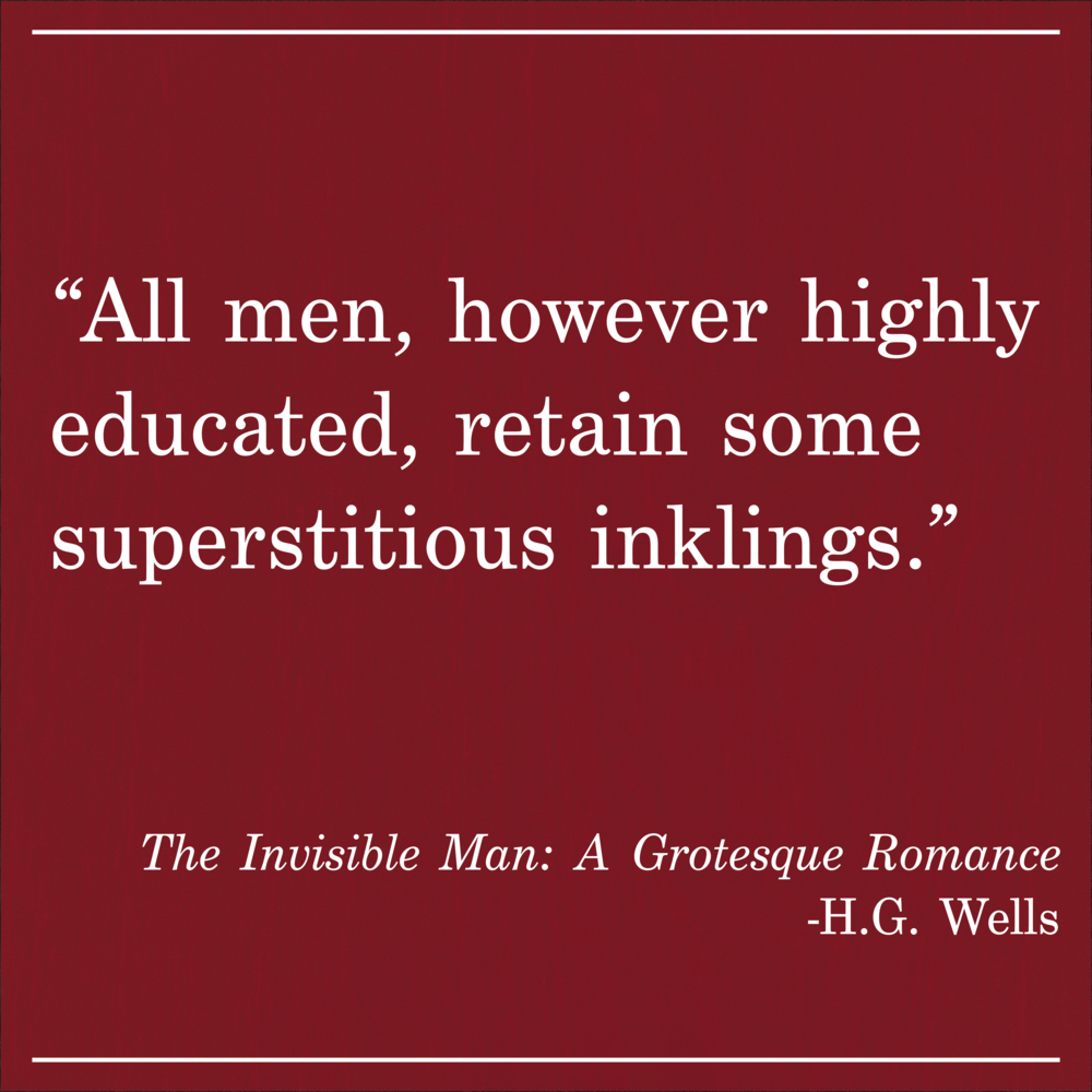 Daily Quote HG Wells Invisible Man