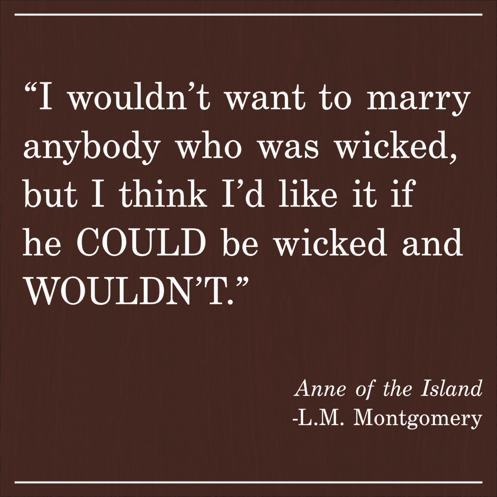Daily Quote Anne of the Island LM Montgomery