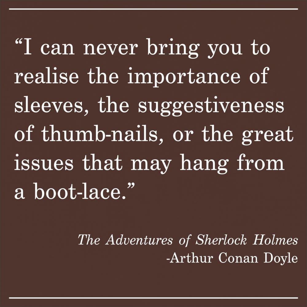 Daily Quotes The Adventures of Sherlock Holmes Arthur Conan Doyle
