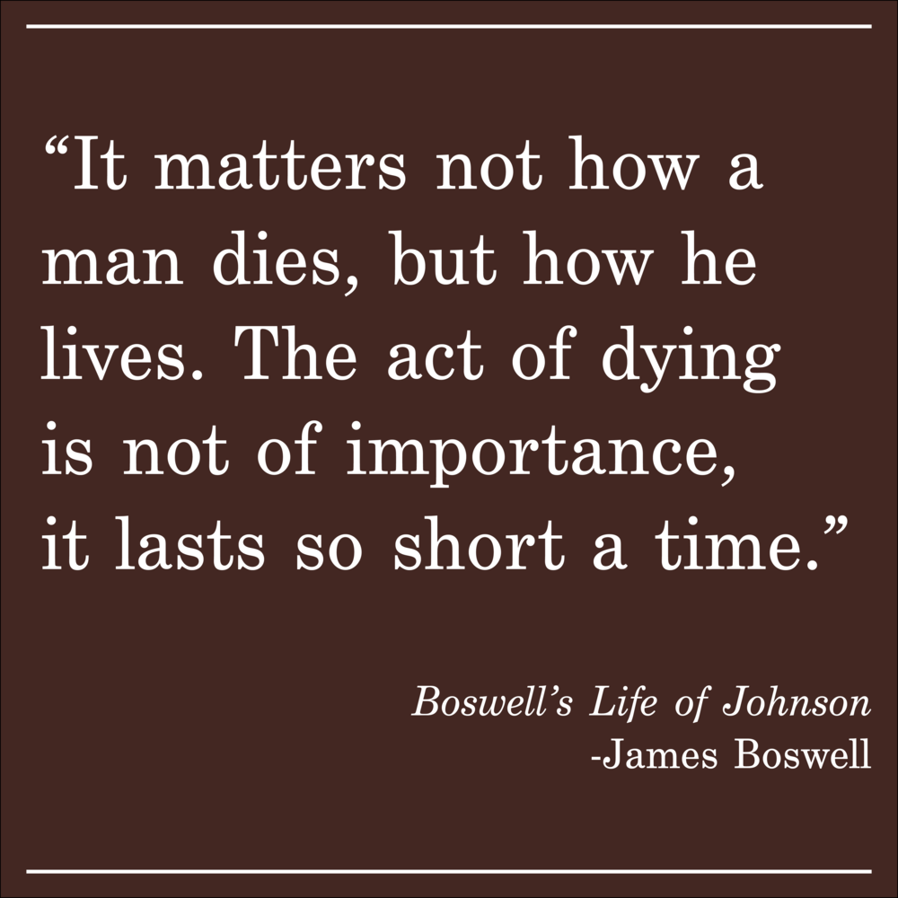 Daily Quote Boswell's Life of Johnson James Boswell