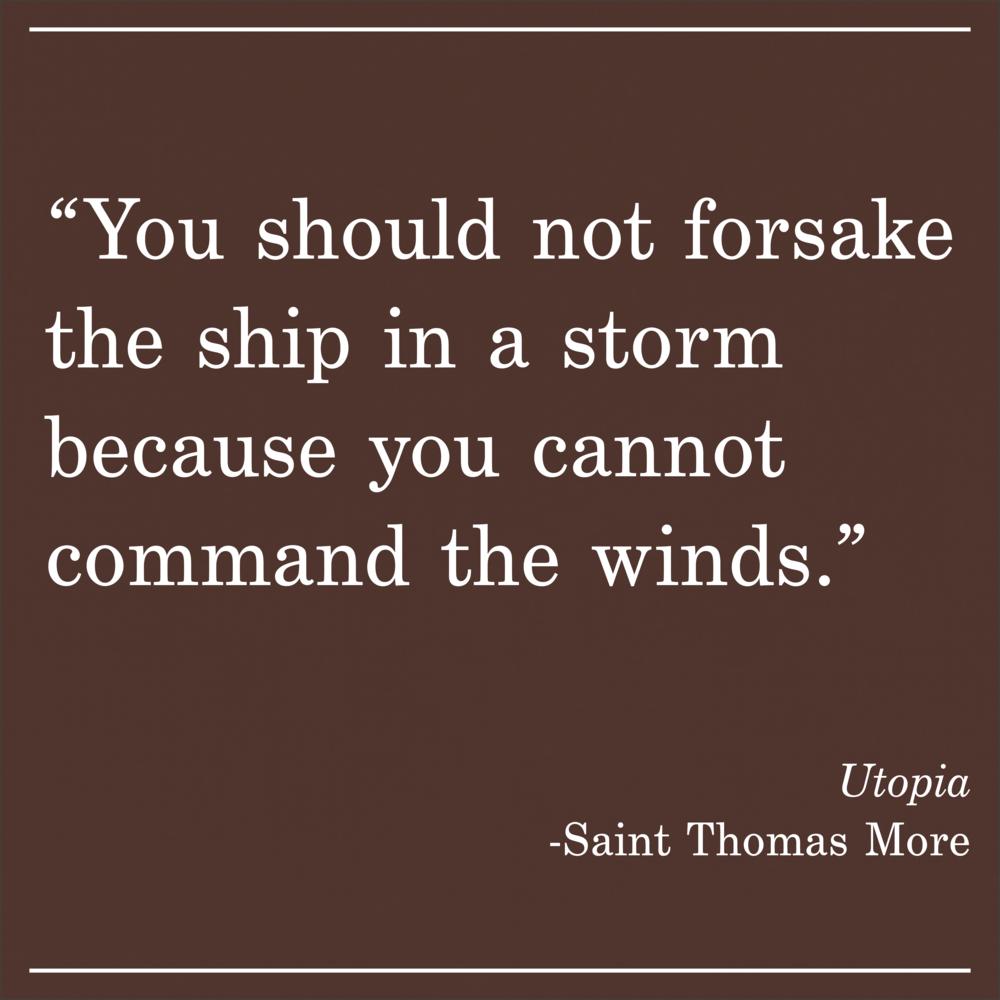 Daily Quote Utopia by Saint Thomas More