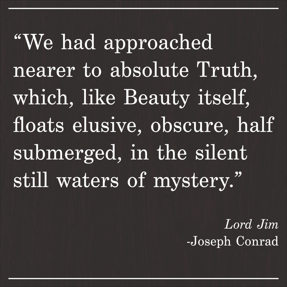 Daily Quote Lord Jim by Joseph Conrad