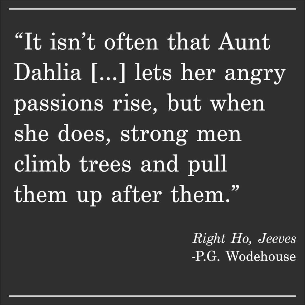 Daily Quote Right Ho, Jeeves by PG Wodehouse