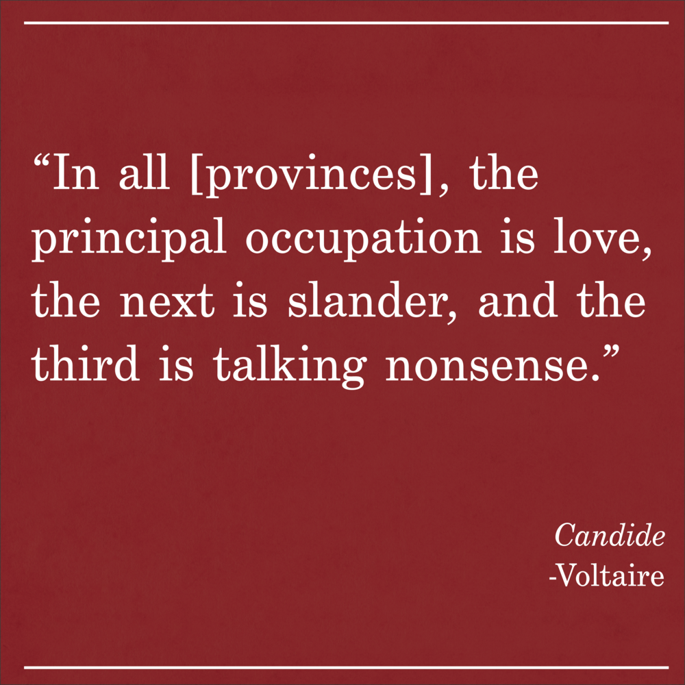 Daily Quote Candid by Voltaire