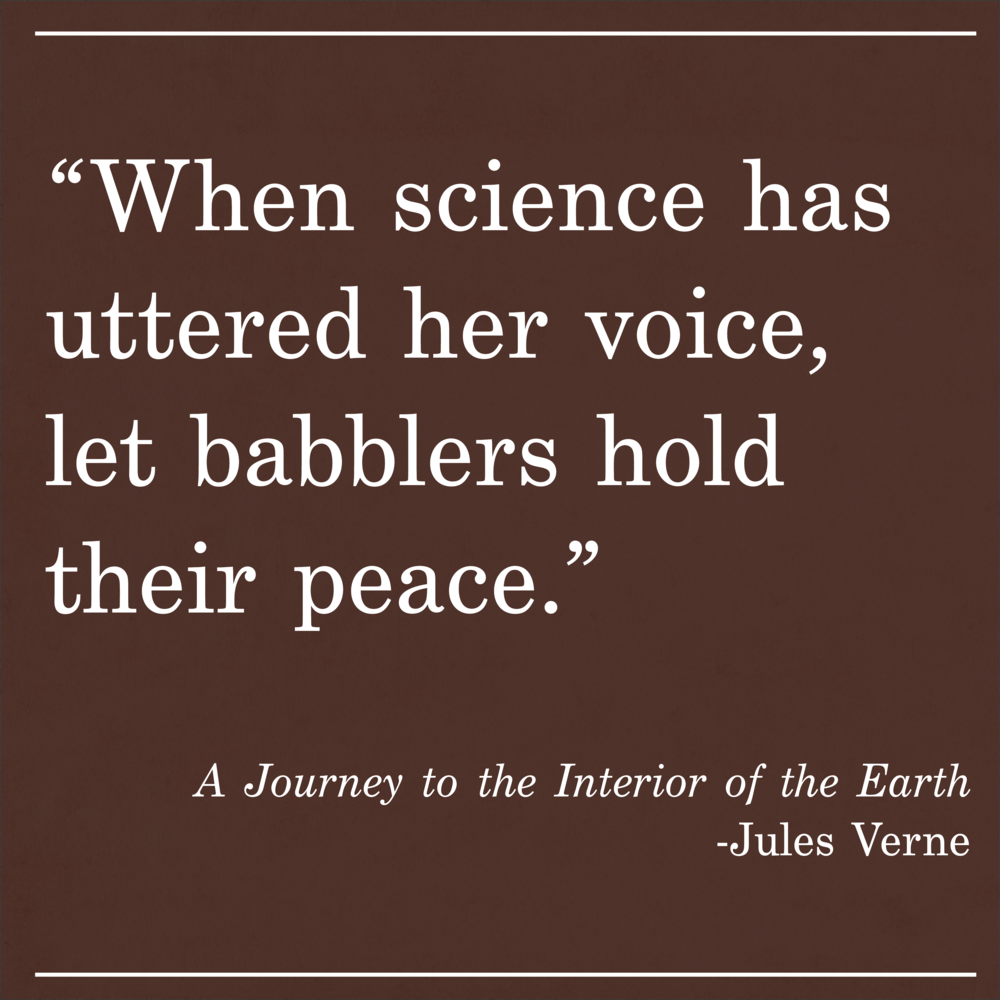 Daily Quote A Journey to the Interior of the Earth by Jules Verne