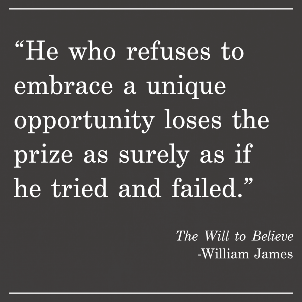 Daily Quote The Will to Believe by William James