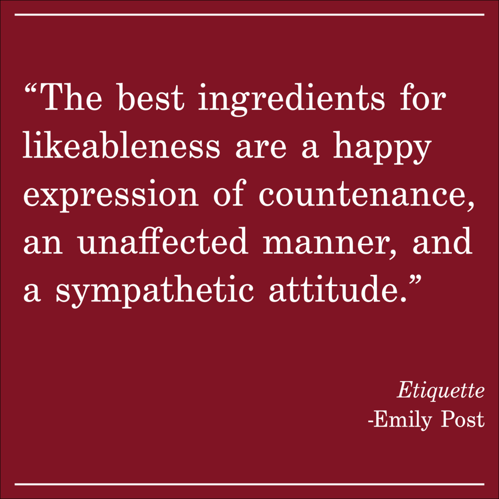 Daily Quote Etiquette by Emily Post