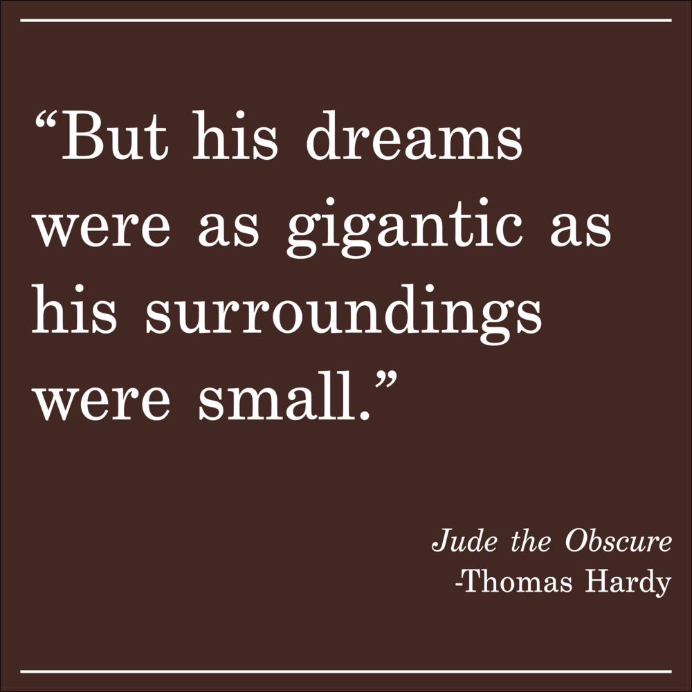 Daily Quote Jude the Obscure by Thomas Hardy