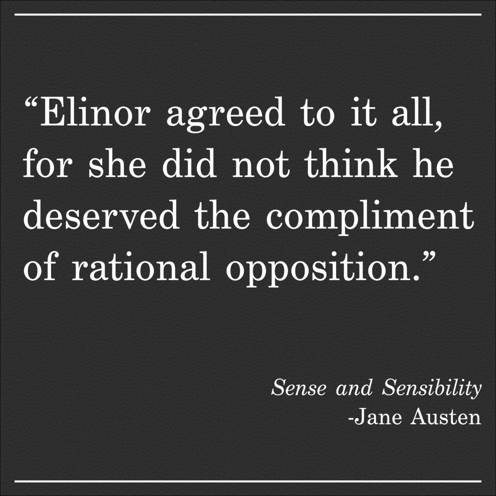 Daily Quote Sense and Sensibility by Jane Austen