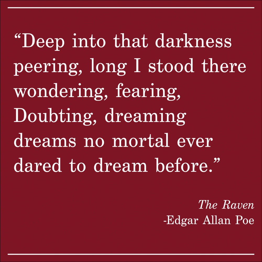 Daily Quote The Raven by Edgar Allen Poe