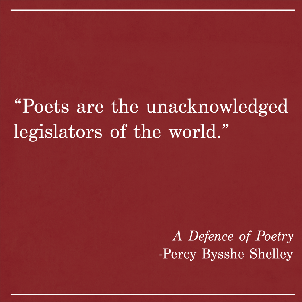 Daily Quote A Defense of Poetry by Percy Bysshe Shelley