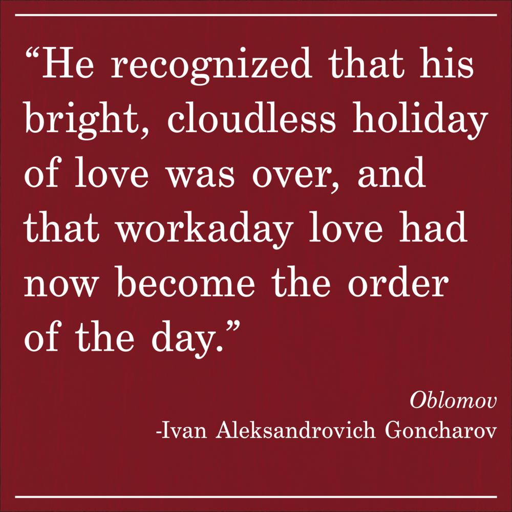 Daily Quote Oblomov by Ivan Aleksandrovich Goncharov