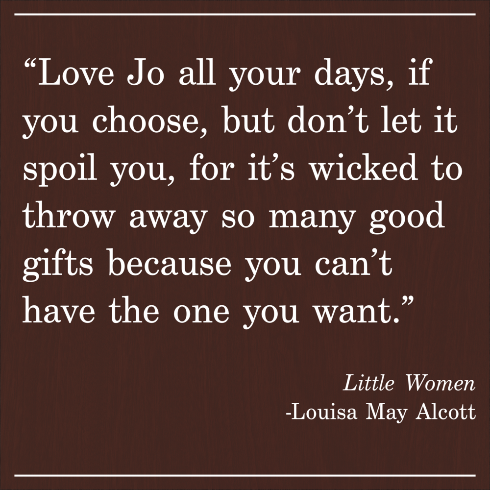 Daily Quote Little Women by Louisa May Alcott