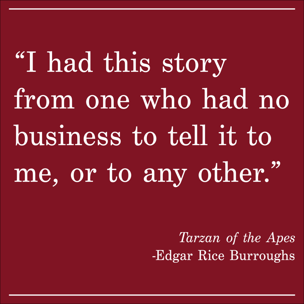 Daily Quote Tarzan of the Apes by Edgar Burroughs