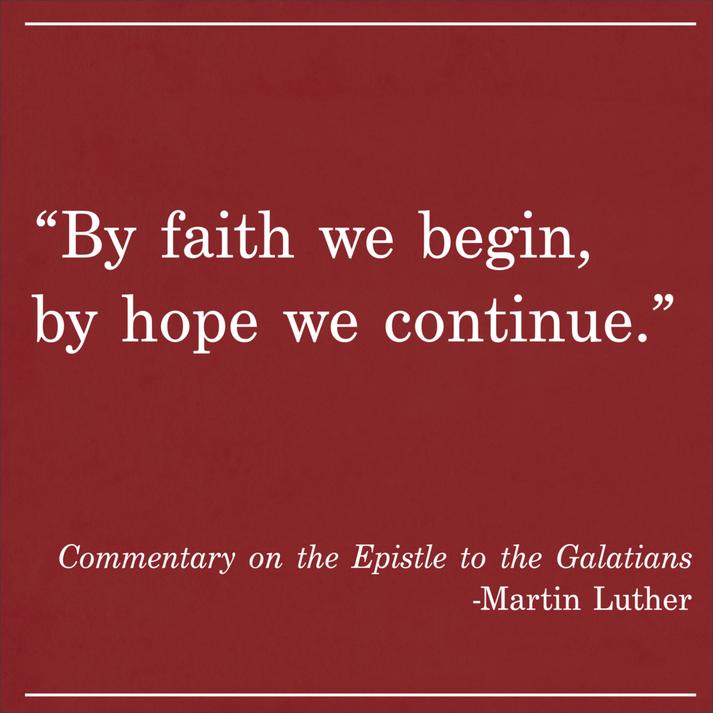 Daily Quote Commentary on the Epistle to the Galatians by Martin Luther