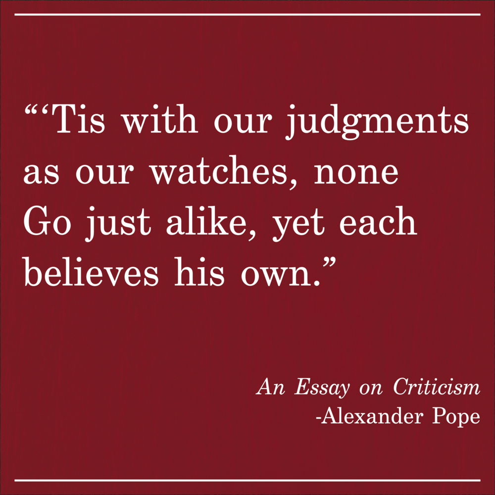 Daily Quote An Essay on Criticism by Alexander Pope
