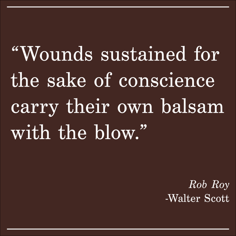 Daily Quote Rob Roy by Walter Scott