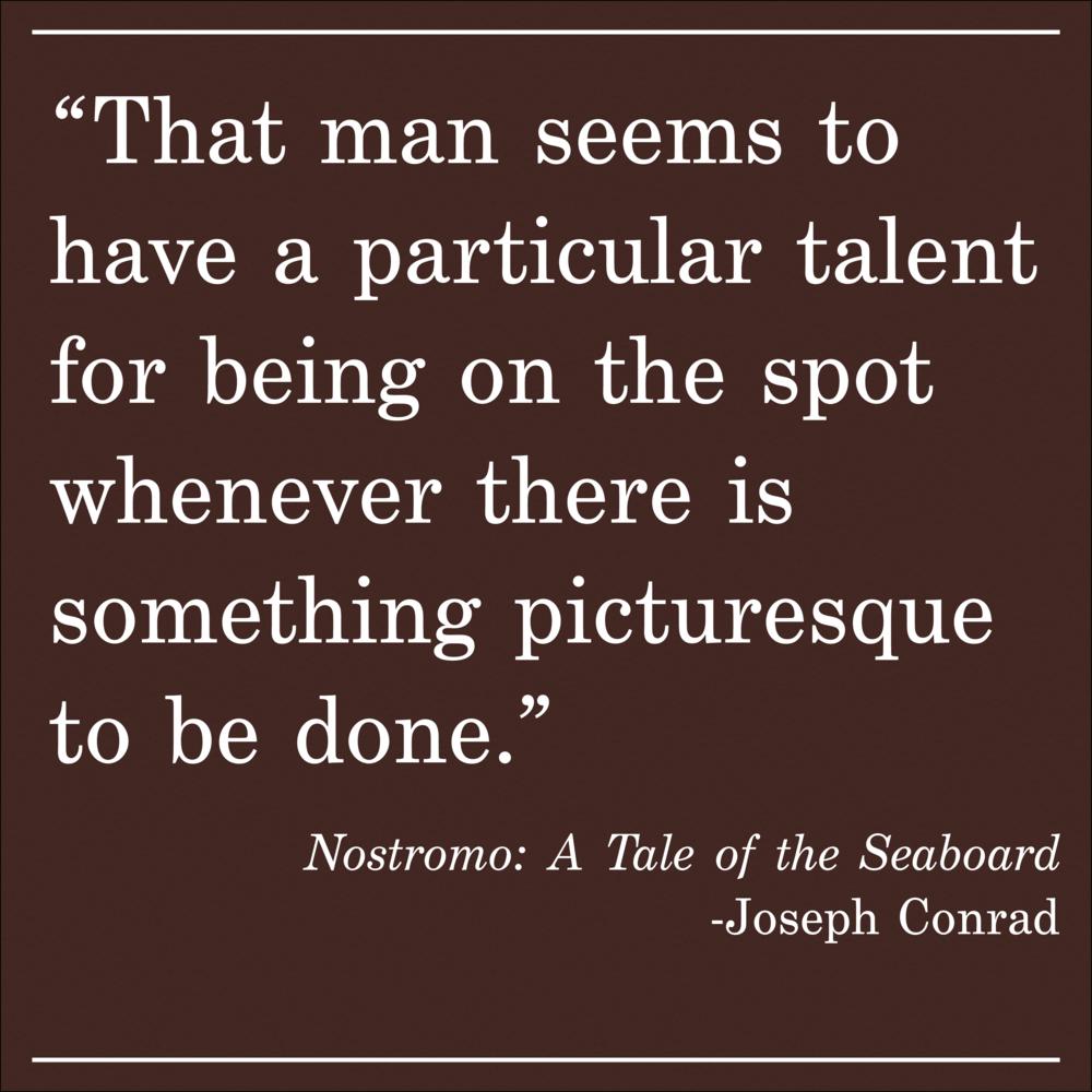 Daily Quote Nostromo by Joseph Conrad