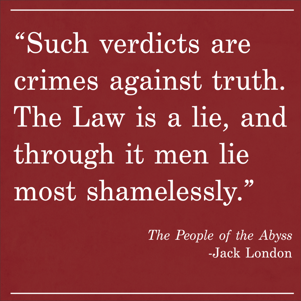 Daily Quote The People of the Abyss by Jack London