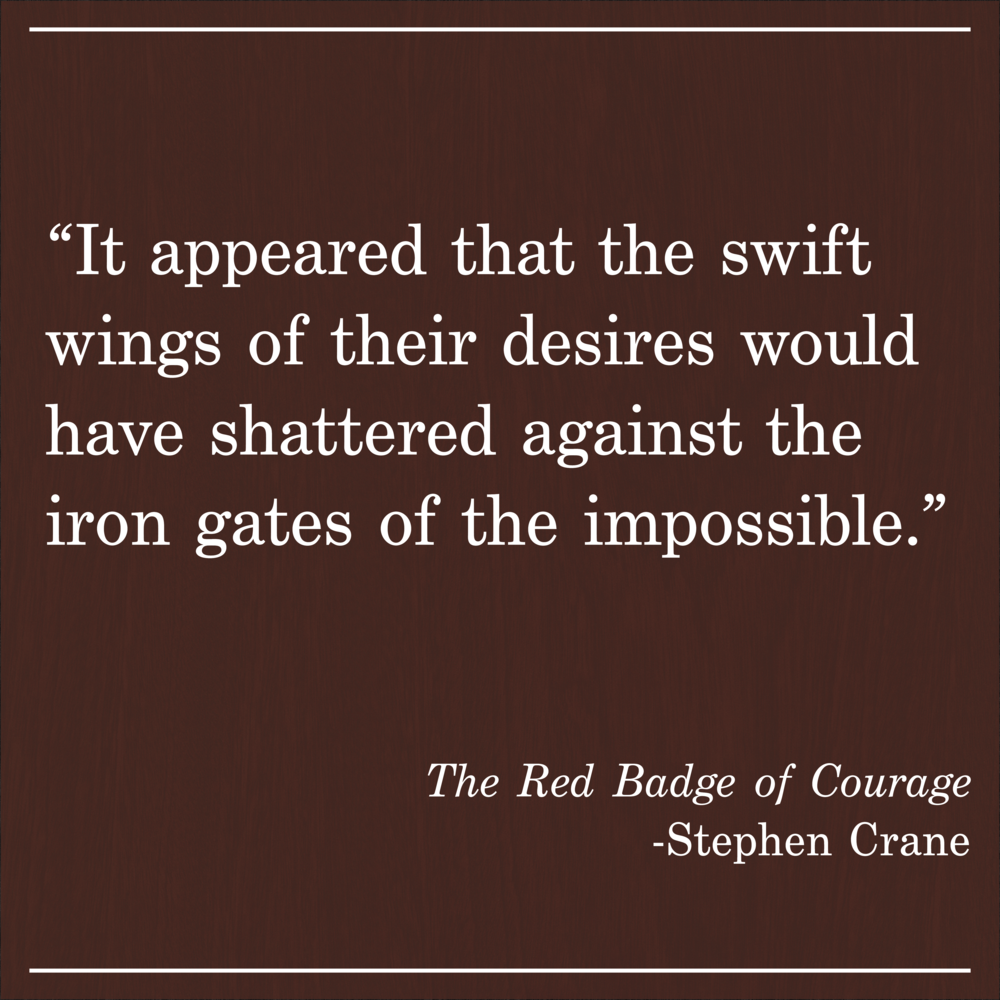 Daily Quote Red Badge of Courage by Stephen Crane
