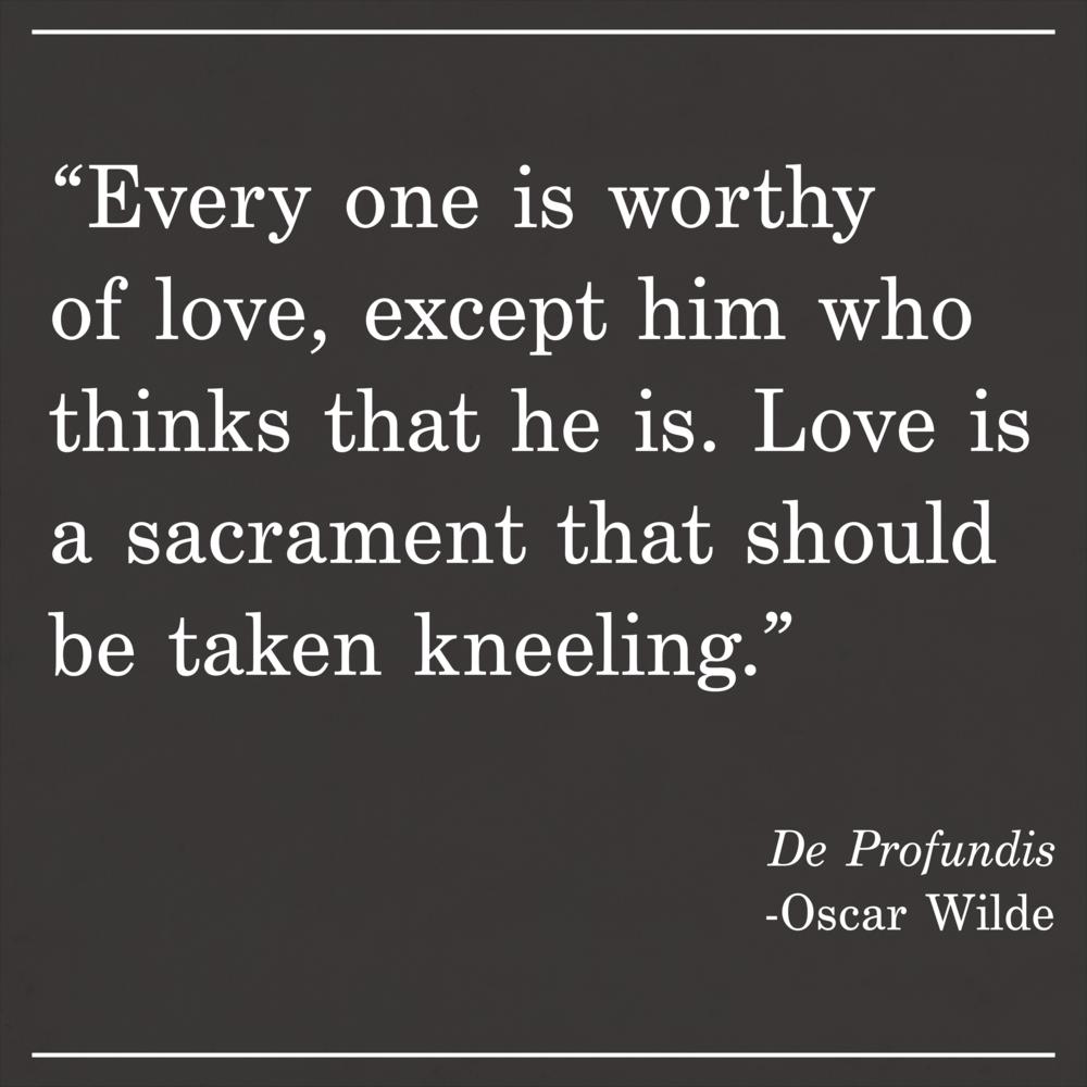 Daily Quote De Profundis by Oscar Wilde
