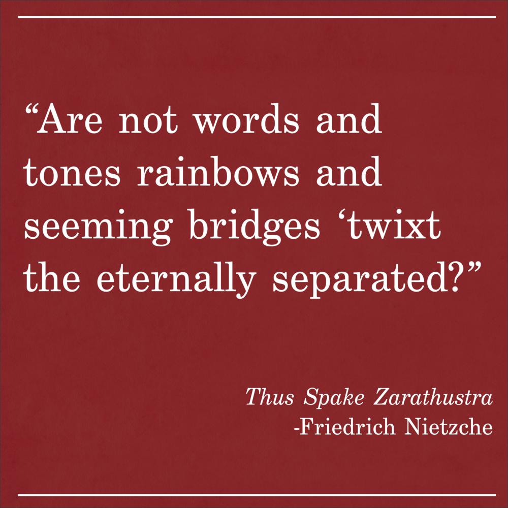 Daily Quote Thus Spake Zarathustra by Nietzche