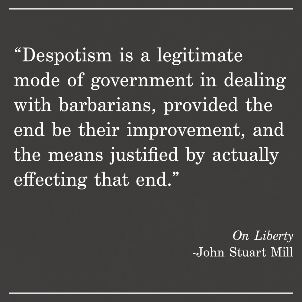 Daily Quote On Liberty by John Stuart Mill