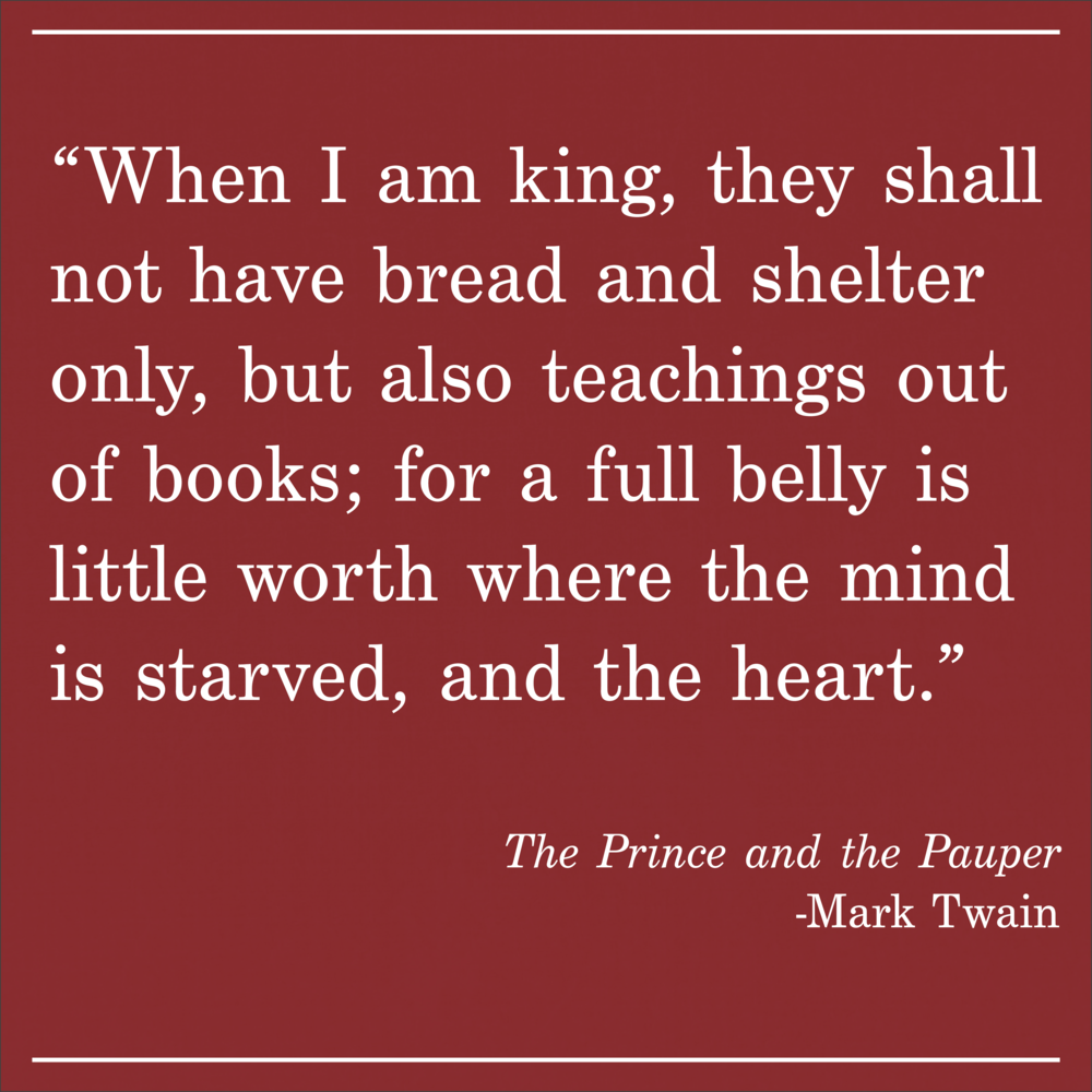 Daily Quote the Prince and the Pauper by Mark Twain