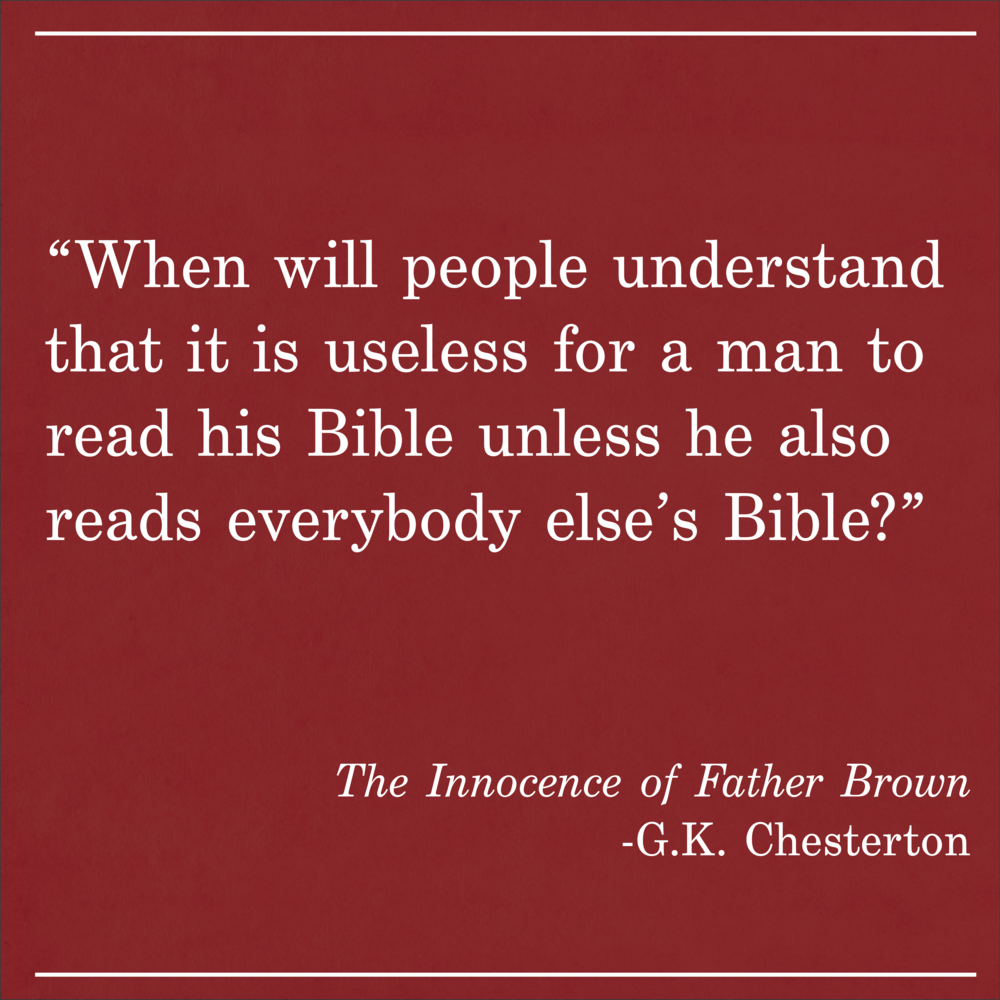 Daily Quote The Innocence of Father Brown by GK Chesterton