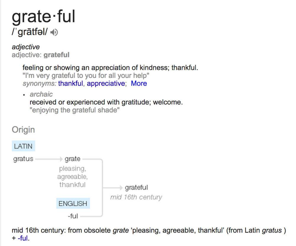 grateful definition