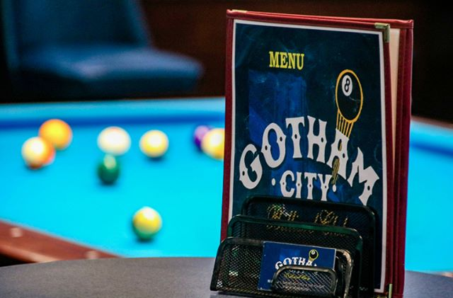 We have a menu filled with goodies! From buffalo wings and cheeseburgers to cheesecakes and chocolate mousse! We have a great beer list along with sodas an energy drinks. Gotham City Billiards is more than just a pool hall. Come on in and try it for yourself!