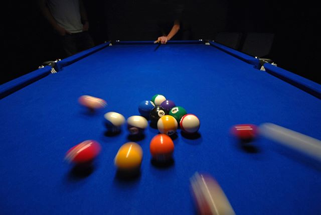 Shoot some pool after work tonight! Enjoy a cold beer and some great games with your friends!